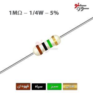1Mohm-0.25W Resistor-مقاومت 1/4 وات