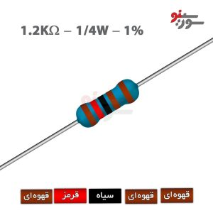 1.2Kohm-0.25W Resistor-مقاومت 1/4 وات