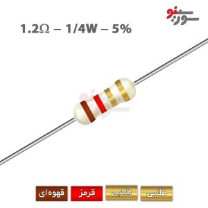 1.2ohm-0.25W Resistor-مقاومت 1/4 وات