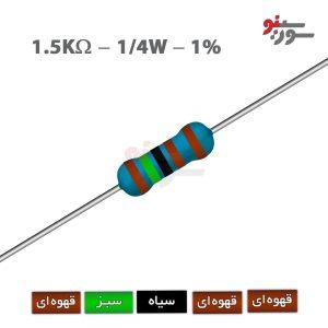 1.5Kohm-0.25W Resistor-مقاومت 1/4 وات