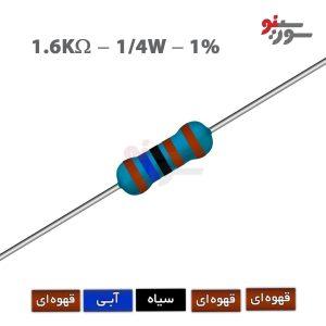1.6Kohm-0.25W Resistor-مقاومت 1/4 وات