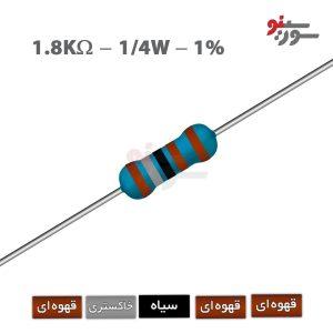 1.8Kohm-0.25W Resistor-مقاومت 1/4 وات