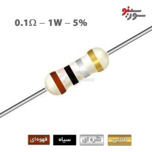 0.1ohm-1W Resistor-مقاومت 1وات
