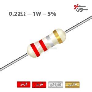 0.22ohm-1W Resistor-مقاومت 1وات