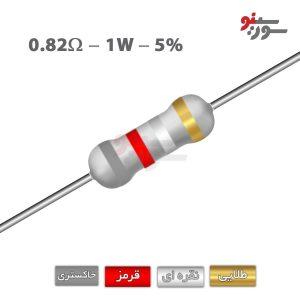 0.82ohm-1W Resistor-مقاومت 1وات
