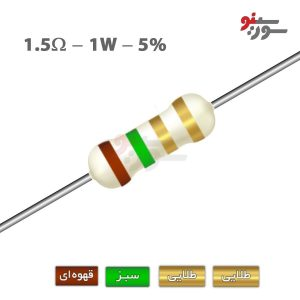 1.5ohm-1W Resistor-مقاومت 1وات