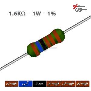 1.6Kohm-1W Resistor-مقاومت 1وات