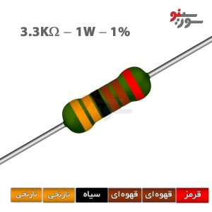 3.3Kohm-1W Resistor-مقاومت 1وات
