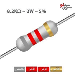 8.2Kohm-2W Resistor-مقاومت 2وات