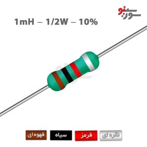 Inductor 1mH-0.5W - سلف اکسیال 1/2وات