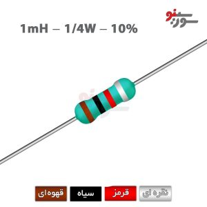 Inductor 1mH-0.25W - سلف اکسیال 1/4وات
