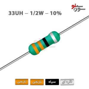 Inductor 33uH-0.5W - سلف اکسیال 1/2وات