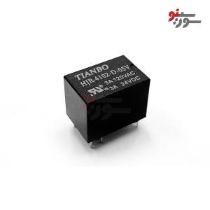 رله 5 ولت تک کنتاکت 6 پایه-بوبین وسط-HJR-4102-D-05V Relay