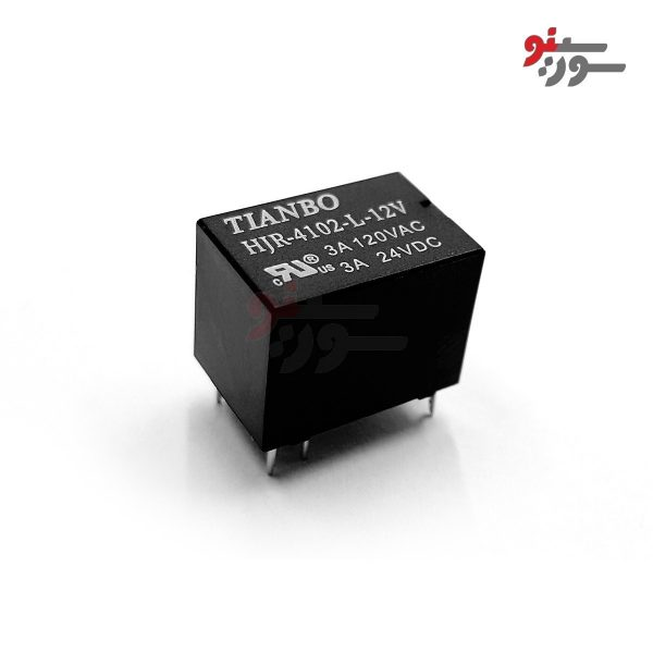 رله 12 ولت تک کنتاکت 6 پایه-بوبین وسط-HJQ-15F-S-Z Relayرله 24 ولت تک کنتاکت 5 پایه-رله تی-HJR-4102-L-12V Relay