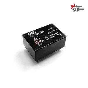 رله 24 ولت تک کنتاکت 4 پایه-خوابیده-PCD-124D1M Relay