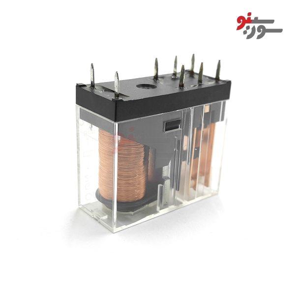 رله 24 ولت دو کنتاکت 8 پایه-شیشه ای-G2R-2-24VDC Relay