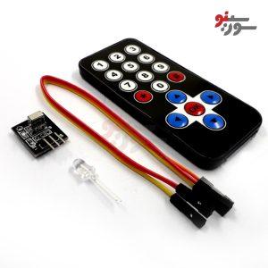 ماژول گیرنده مادون قرمز + ریموت-Infrared Receiver Module+Remote-Transceiver