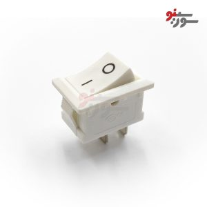 Rocker Switch-کلید راکر متوسط سفید 2 حالته 2 پین