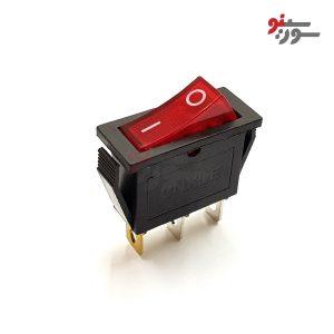 Rocker Switch-کلید راکر بزرگ باریک چراغدار 2 حالته 3 پین