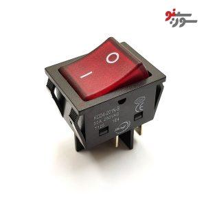 Rocker Switch-کلید راکر بزرگ چراغدار 2 حالته 4 پین-30A