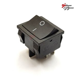 Rocker Switch-کلید راکر متوسط پهن 2 حالته 4 پین