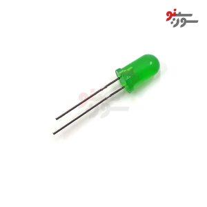 LED سبز 5mm مات