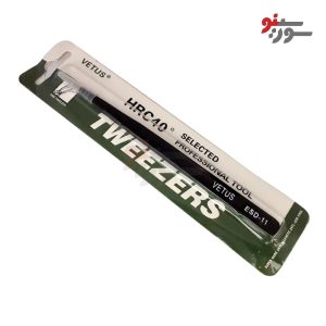 پنس سرصاف ضد مغناطیس-Tweezer VETUS ESD-11