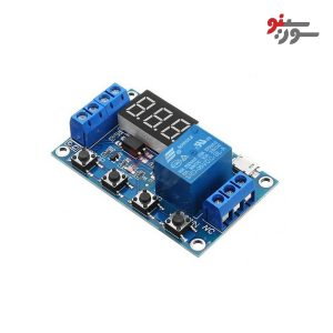 JZ-801-MODULE-ماژول تایمر 30-6 ولت قابل تنظیم همراه با رله و نمایشگر